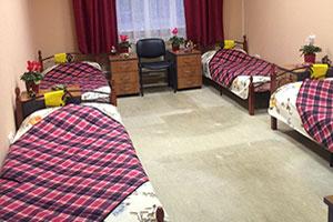 Шестиместная палата для пожилых в пансионате